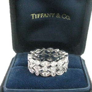 Tiffany & Co. PT950 Platinum with 1.40ct Diamond Ring Size 6.5
