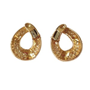 Van Cleef Arpels 18K Yellow Gold Diamond Earrings