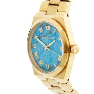 Michael Kors MK5894 Channing Goldtone Stainless Steel Turquoise Dial  45mm Watch