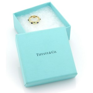 Tiffany & Co. Italy 18K Yellow Gold Sapphire Cabochon Eternity Band