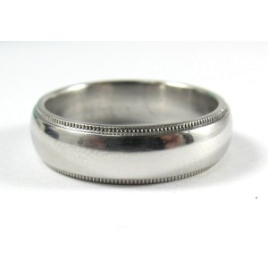Tiffany & Co. Platinum Milgrain Wedding Band Sz 9.25