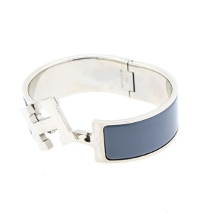 Hermes Gray Enamel Bracelet