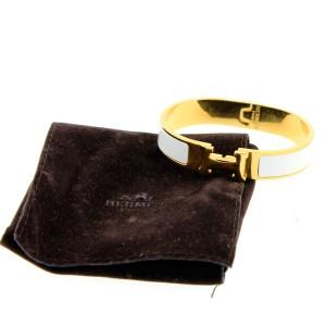 Hermes White Enamel Bracelet