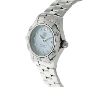 Tag Heuer Aquaracer Womens Watch WAF1419.BA0813 10 Diamond Blue Mother-of-Pearl Face
