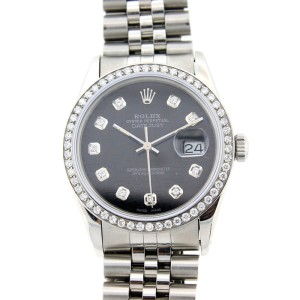 Rolex Datejust Stainless Steel Diamond Bezel and Dial