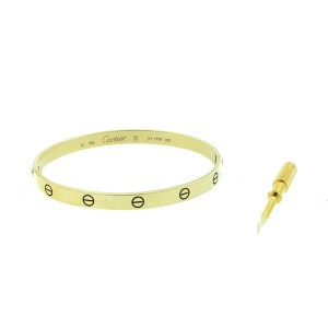 Cartier Love Bracelet Yellow Gold Size 21