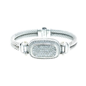 David Yurman Sterling Silver Diamond Bracelet