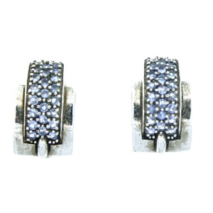 Sterling Silver & Tanzanite Earrings