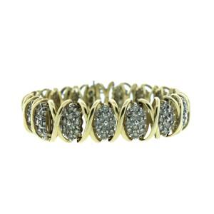14K Yellow Gold & Diamond Bracelet