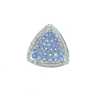 14K White Gold, Tanzanite & Diamond Pendant