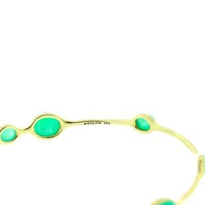 Ippolita 18K Yellow Gold Green Chrysoprase Bangle