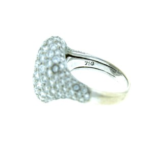 18K White Gold Pave Diamond Ring