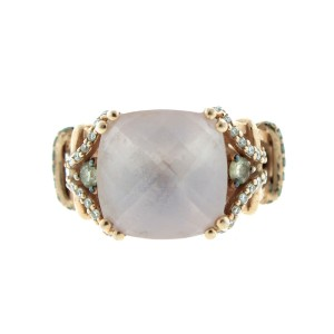 LeVian Faceted 14K Rose Gold & Diamond Ring