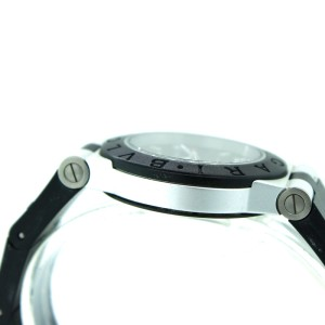 Bvlgari Diagono Aluminium Diamond Rubber 32mm Watch