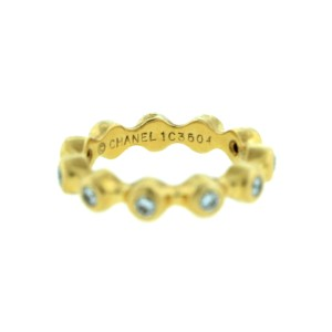 Chanel 18k Yellow Gold Diamond Eternity Band ring