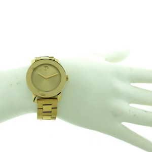 Movado Gold Tone Bold Watch