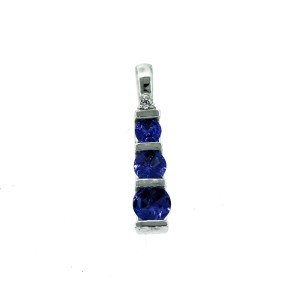 18K White Gold Tanzanite Pendant
