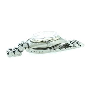 """Rolex Datejust Stainless Steel Silver """"Linen"""" Stick Dial Fluted Bezel Jubilee Bracelet Watch"""