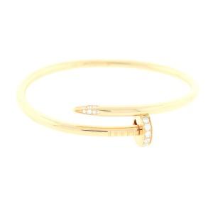 Cartier Juste Un Clou Bracelet Y/G DIA Size 17