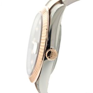 Rolex Two-Tone DateJust II Rose Gold Chocolate Diamond Dial Watch