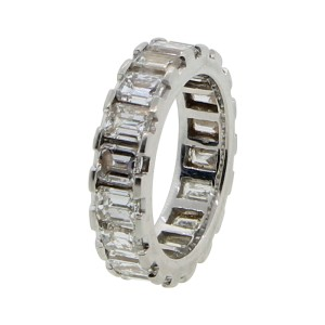 Emerald Cut Diamond Eternity Band Ring