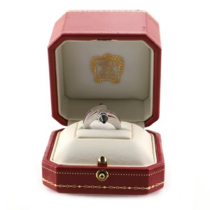 Cartier Menotte Ring 18K White Gold and Onyx 4.75 - 49