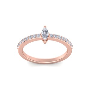 GLAM ® Petite Marquise Ring in 14K Gold and 0.44ct Diamond