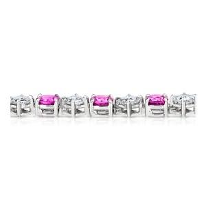 Platinum 12.46ctw. Pink Sapphire 6.83ctw. Diamond Bracelet