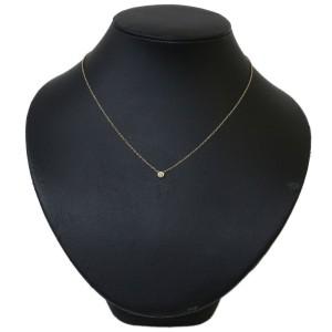 Tiffany&Co 18K Rose Gold Elsa Peretti Diamond by the Yard Pendant Necklace