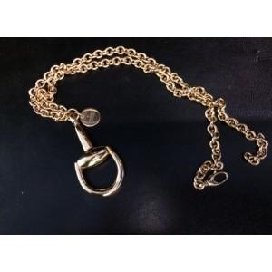 Gucci 18K Yellow Gold Horsebit Pendant Necklace