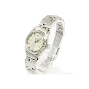 Rolex Oyster Precision Stainless Steel Hand-Winding Vintage 25mm Womens Watch