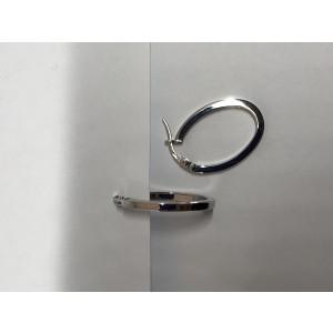 Roberto Coin Petite 18K White Gold Hoop Earrings