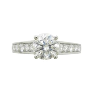 Cartier 950 Platinum 0.71ct Solitaire Diamond Ring Size 4.75