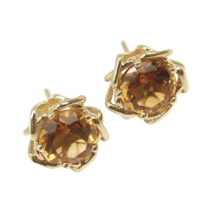 Tiffany Co Vintage 18k Yellow Gold Citrine Earrings