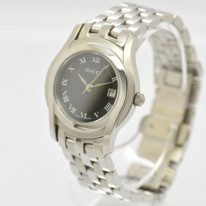 Gucci 5500L Date Stainless Steel 27mm Watch
