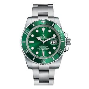 Rolex Submariner 'The Hulk' 116610LV Stainless Steel Green Dial Ceramic Bezel 40mm Mens Watch