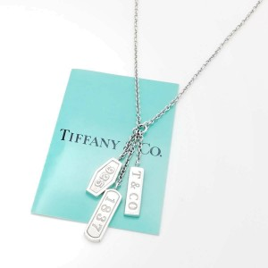TIFFANY & Co. silver Triple Plate Bar 1837 Fringe necklace