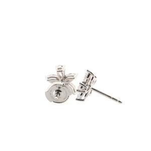 Tiffany & Co. Victoria Mixed Cluster Stud Earrings Platinum with Diamonds Medium