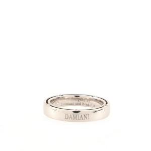 Damiani 10 Diamonds D.Side Wedding Band Ring 18K White Gold with Diamonds Medium