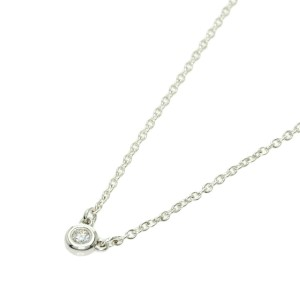 """TIFFANY & Co. 0.9"""" Silver By The Yard Necklace"""