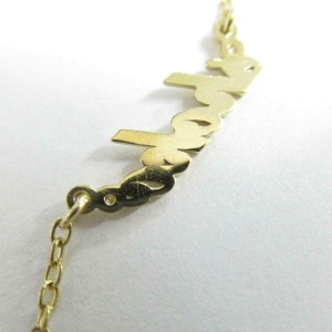 AHKAH 18K yellow gold Diamond Petit Ecriture Necklace RCB-53