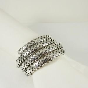 John Hardy Sterling Silver Triple Coil Dot Bracelet
