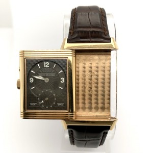 Jaeger LeCoultre REVERSO Night-Day 18K Rose Gold Watch