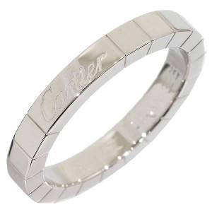 Cartier 18K White Gold Lanier Ring Size 6.25