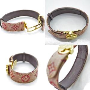 Louis Vuitton Canvas And Gold Tone Metal Bracelet