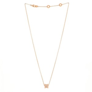 Bvlgari B.Zero1 Round Pendant Necklace 18K Rose Gold with Diamonds