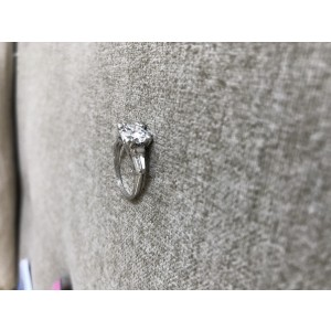 Platinum with 1.76ct. Diamond Engagement Ring Size 6