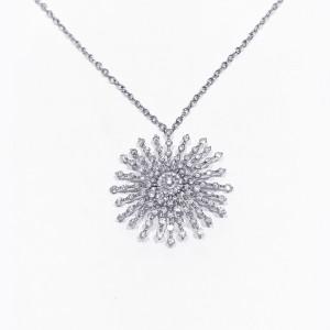 SPARKLE DIAMOND WHITE GOLD NECKLACE