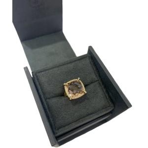 David Yurman Yellow Gold Chatelaine Ring Morganite 14mm
