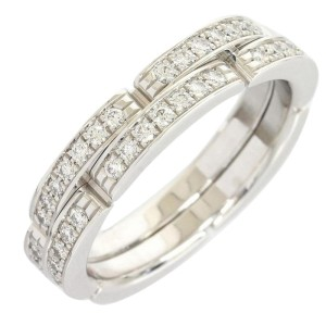 Cartier 18k White Gold Diamond Mailon Panthere Ring